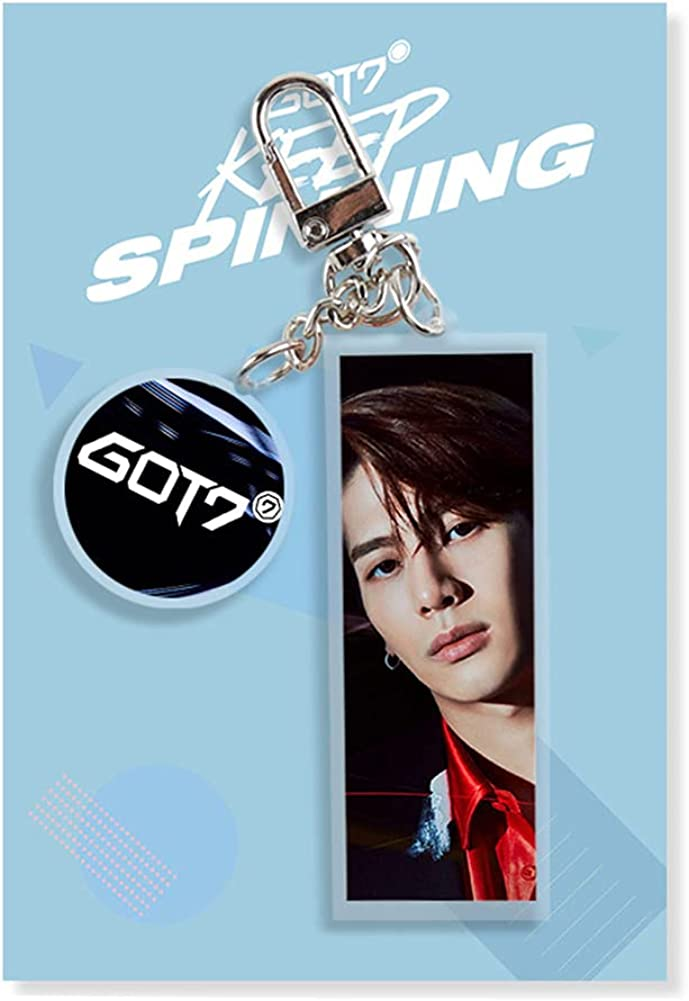 NC KPOP Got7 Keychain PVC Keyring Double-Sided Printed with Member Image Keychain Kpop Merch Bag Ornament