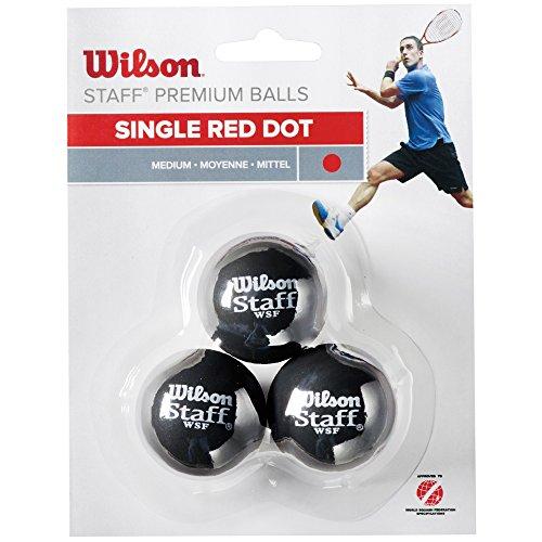 Wilson Staff Pelota de Squash, 3 Unidades, Unisex, Rojo Negro, 3 Piezas