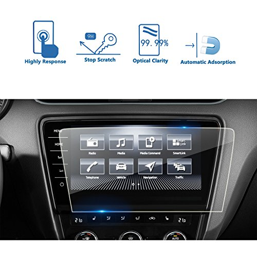 LFOTPP Skoda Octavia Infotainmentsystem Columbus 9,2 Zoll Navigation Schutzfolie - 9H Kratzfest Anti-Fingerprint Panzerglas Displayschutzfolie GPS Navi Folie