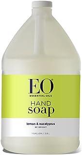 EO Liquid Hand Soap Refill, Lemon and Eucalyptus, 128 Fluid Ounce