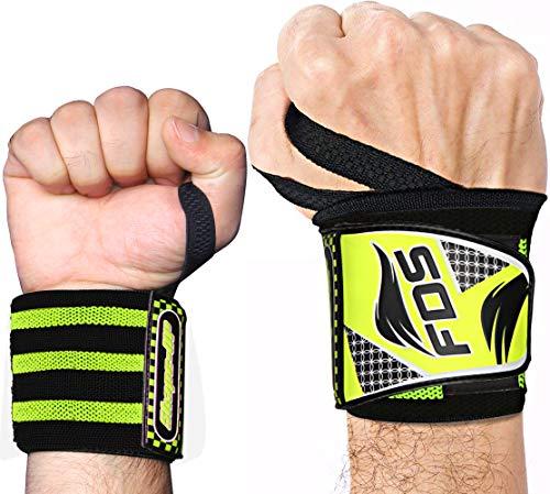 FDS Handgelenk Bandagen Fitness 2 Stück Handgelenkbandage krafttraining Wrist Wraps 18 Zoll Für Frauen & Männer Geeignet Hand Gelenkschutz for Bodybuilding, Gymnastik und Powerlifting