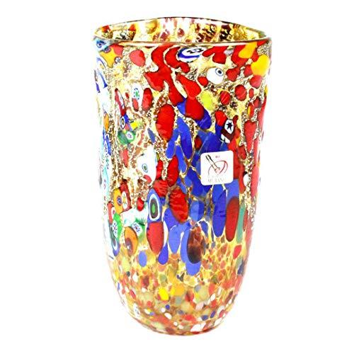 Vase Carnevale – Mélange de couleurs – Verre de Murano original OMG