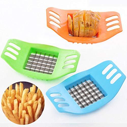 Tiowea 1 Stü Neue Kartoffelschneider Tragbare Grid Slicer Handgeschnittene Kartoffel DIY Frites Kitchen Tool Gemüsehobel