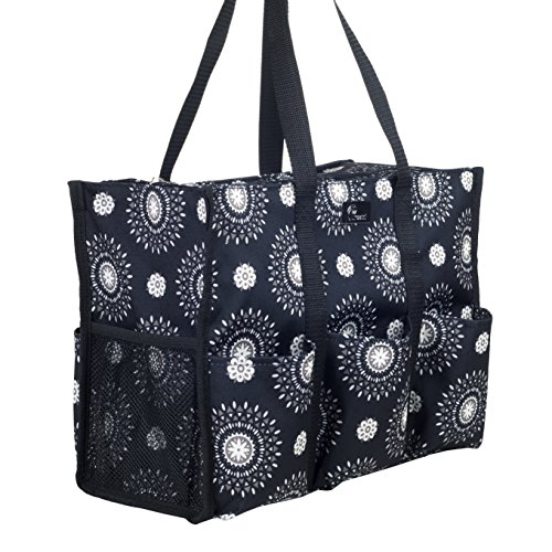 Pursetti Teacher Bag with Pockets - Perfect Gift for Teacher's Appreciation and Christmas (Cool Mandala)