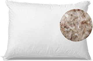 Down and Feather Bed Pillows - Two Fill Options Universal for All Sleepers w/Cotton Casing - Made in The USA, Standard