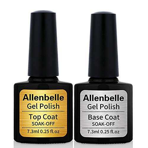 comparador Esmalte en gel permanente Soak Allen Bell Nail Art UV-LED (2 piezas, 7,3 ml / piezas) 011