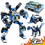 Robot STEM Toy Figure | 3 in 1 Fun Creative Set | Construction Building Toys for Boys and Girls Ages 6-14 Years Old | Best Toy Gift for Kids | Free Poster Kit Included