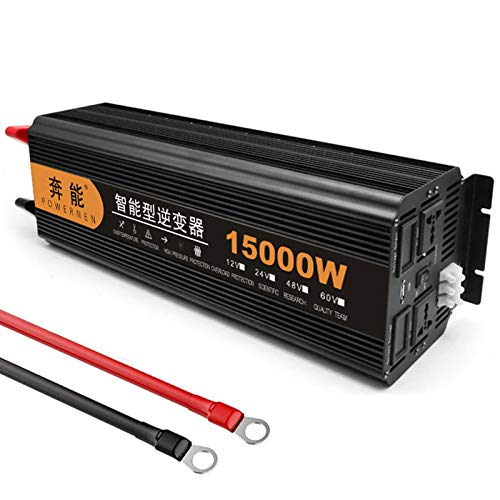 ZH-VBC Wechselrichter 7000W (Spitzenleistung 15000W), Spannungswandler 12V/24V Auf 220V 230V Sinus Konverter Inverter, Stromwandler für Laptop, Kamera, Smartphone, Haushaltsgeräte,24V