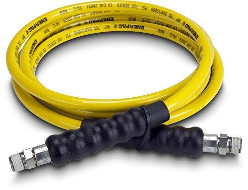 Enerpac H7210 High Pressure Hydraulic Hose, 700 Series, 10' Length, 0.25 Diameter, Yellow by Enerpac