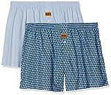 Dim CALEÇON FLOTTANT X2 Boxer de bain Homme Multicolore (Bleu Ciel/ Imprimé Cube 8no) X-Large (Taille fabricant:5) 2lot de2