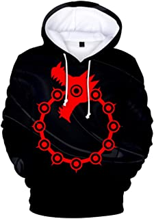 Anime Seven Major Sins Digital Color 3D Hoodies Adults Hooded Sweater Men and Women Hoodies
