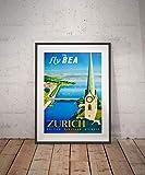 Rac76yd Zürich Zürich Reise-Poster Wanddekoration Vintage