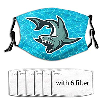 Bale Shark Reusable Activated Carbon Filter Face Shield With 6 Filter Replaceable for Men Women