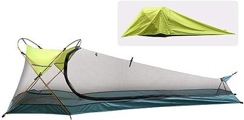 CHYYZP Tente Tente De Camping, Tente De Cabine Instantanée Extérieure Imperméable, Légère Et Portable, Seule Personne, Abri du Soleil pour Le Camping, La Randonnée, L'équitation