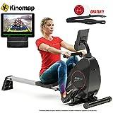 Sportstech RSX400 Rameur d'appartement Pliable, ergomètre Compatible avec App...