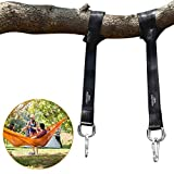 POOTACK 1 paio di cinghie per albero Swing Swing Swing Swing Kit di fissaggio cinghie in fibra di poliestere con 2 moschettoni Safety Lock e 2 anelli a D durevoli per alberi Swing amaca, Carry Pouch