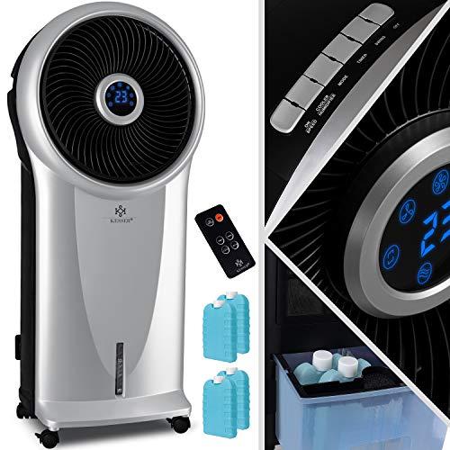 KESSER® 4in1 Mobile Klimaanlage Klimagerät mit Fernbedienung | Ventilator | 5,5L Wassertank | Timer | 3 Stufen | Ionisator Luftbefeuchter | Luftkühler | LED-Display, 3 Betriebsmodi, Silber