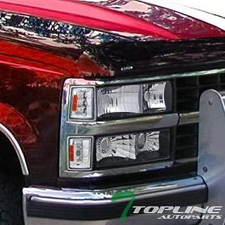 Topline Autopart Chrome Amber Signal Parking Corner...