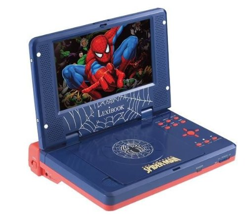 """Lexibook Barbie DVDP1SP Jeu Électronique Lecteur DVD Portable Spider-Man 7 """" avec Telecommande"""