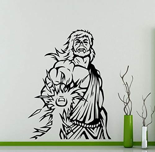 fancjj Zeus Etiqueta de la Pared relámpago Antiguo Dios Griego Arte Especial diseño Decal Home Room Art Decor calcomanías a Prueba de Agua 57x78 cm