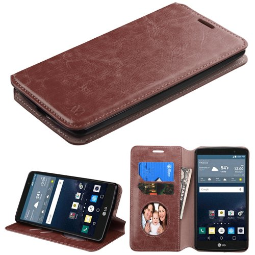 LG G STYLO Wallet Case, Customerfirst, LG G STYLO (LS770) Wallet PU Leather Case Fancy Diary Premium Color Pouch ID Credit Card Cover Flip Folio Book Style with Money Slot - Hybrid Slim Fit