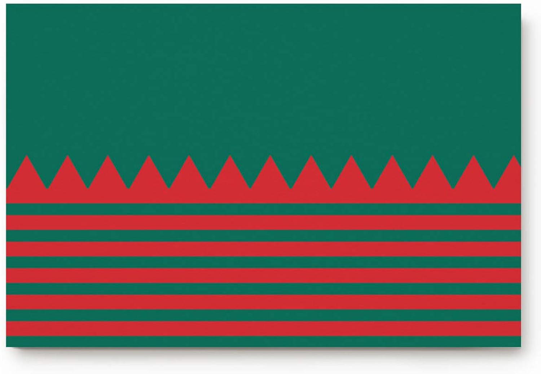 MUSEDAY Merry Christmas Entryway Door Rug Floor Mat 20x31.5inch Classic Green Red Stripes Doormat Indoor shoes Scraper Rubber Entrance Mat for Living Dining Dorm Room