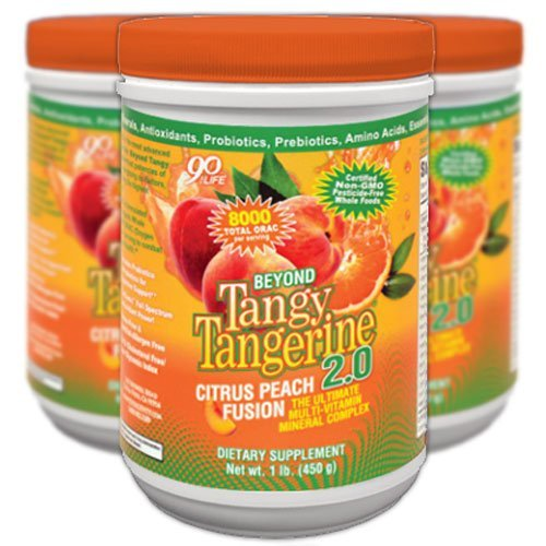 Beyond Tangy Tangerine 2.0 Citrus Peach Infusion Canister 3-Pack by Youngevity