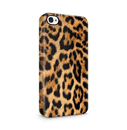 Leopard Fur Pattern Dünne Handy Schutzhülle Hardcase Aus Hartplastik Hülle Kompatibel mit iPhone 4 / iPhone 4S Handyhülle Case Cover