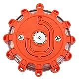 ACBungji Gyrophare Orange LED Voiture Auto Route Clignotant Avertisseur Lumineux Signal Urgence Lumière Avertissement Base Magnétique - Seule - Imperméable IP65