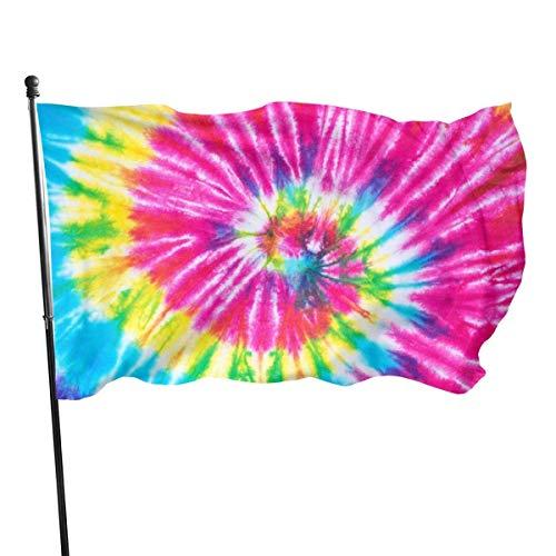 Bandera de jardín, espiral de arco iris, color vivo y resistente a los rayos UV, doble costura para patio, bandera de temporada, banderas de pared de 3 x 5 pies