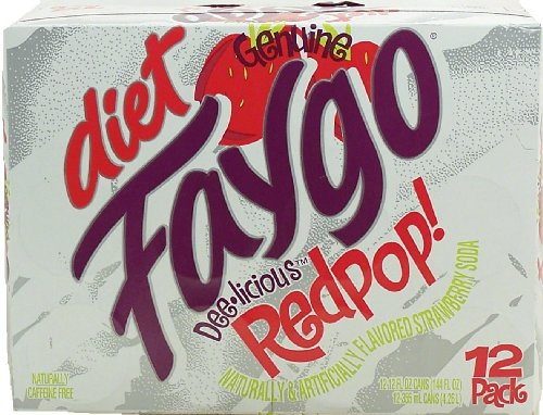 Faygo - DIET Red Pop! Soda - 12 Pack of 12-oz. Cans