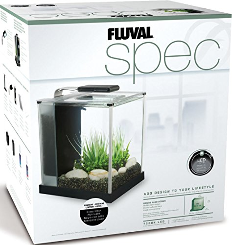Fluval Spec III Aquarium Kit, 2.6-Gallon, Black (10515A1)