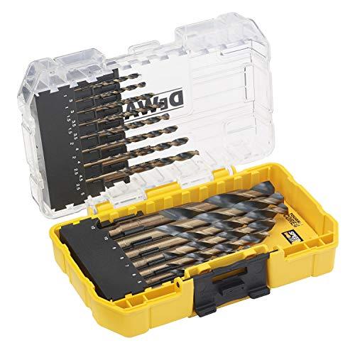 DeWALT DT70729-QZ - Juego de brocas para metal (HSS-G, 23 unidades), color negro y amarillo