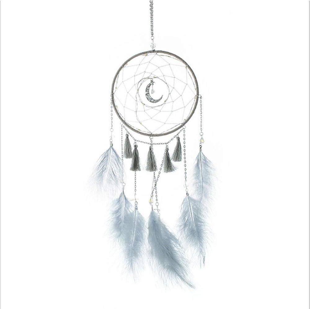 Lazz1on Attrapeur de R/êves Capteur De R/êves en Plumes Fait Main Dreamcatcher R/étro Romantique D/écoration pour Decoratif Maison Chambre Murale Voiture Cadeau