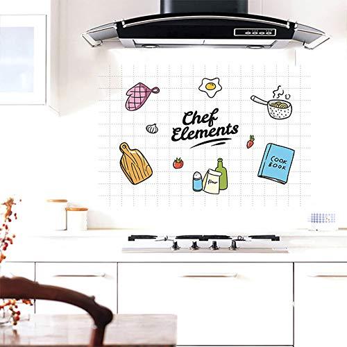 Pegatinas De Pared Pegatinas A Prueba De Aceite De La Cocina Papel De Aluminio De Alta Temperatura Autoadhesivo Papel Resistente A Las Grasas Azulejos Adhesivos 60 * 90 Cm