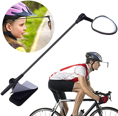 PChero Bike Helmet Mirror 360 Degree Adjustable Bicycle Cycling Rear View Helmet Mirror product image
