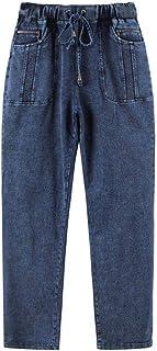 FCWJHNTSL Jeans Casuales de Talla Grande para Mujer de Alta flexibilidad