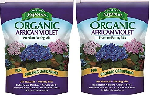 Espoma AV4 Spring new work one after another Organic African Violet 2 Packs 5 ☆ very popular Potting Mix 4-Quart
