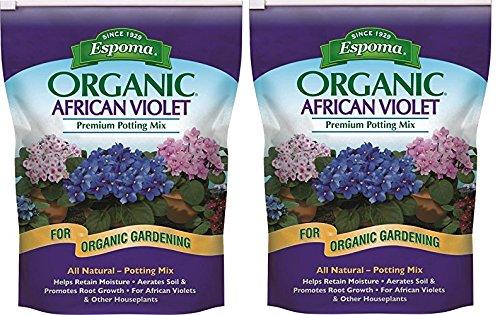 Espoma AV4, Organic African Violet Potting Mix, 4-Quart (2 Packs of 4-Quart)
