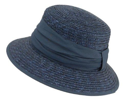 Seeberger Damen Sonnenhut Damenstrohhut, Einfarbig, Gr. One size, Blau (tinte 68)