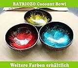 Batriozo Einzigartige Kokosnussschale – Gold – Hochwertige Dekoschale – 100% Handgemacht und Umweltfreundlich – Vielseitig Einsetzbar – Coconut Bowl - 7