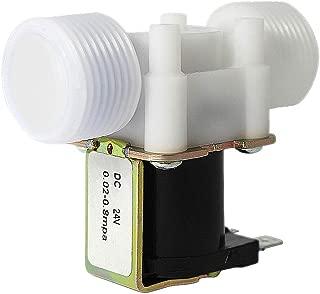 Beduan Plastic Inlet Water Solenoid Valve Normally Closed, DC 24V 1/2