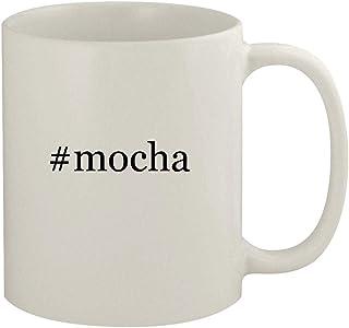#mocha - 11oz Ceramic White Coffee Mug, White