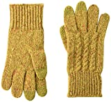 Pendleton Women's Cable Texting Glove, Yellow, One Size