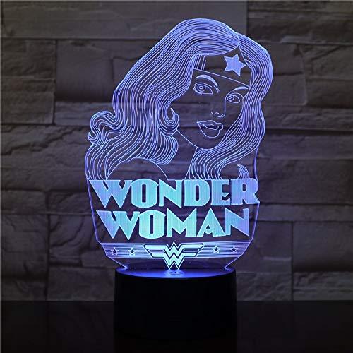 tzxdbh 3D Illusion Lampe, 7 Farbwechsel Modellierung Kreative Super Hertouch Nachtlicht Für Baby Schlafzimmer Dekoration Kinder Geschenk