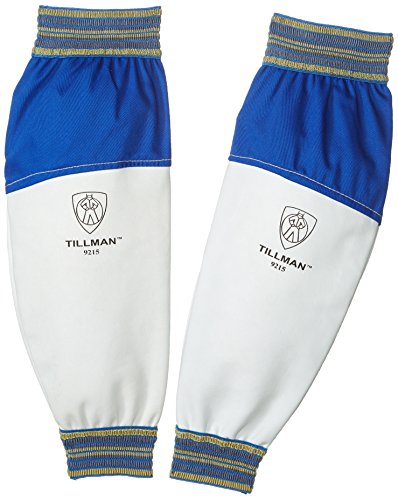 Tillman 9215 Goatskin/FR Leather Goatskin & Cotton Protective Welding Sleeves, 1 Pair