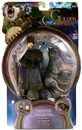 The Golden Compass 4 Inch Action Figure - Tartar Soldier (Long Beard) With Wolf Daemon by The Golden Compass