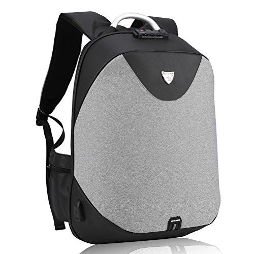 Laptop Rucksack zum Herren - Arctic Hunter Diebstahlschutz Business Rucksack mit USB Zum...