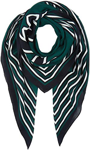 Tommy Hilfiger Damen TOMMY PATCH SQUARE Schal, Grün (Green Lj5), One Size (Herstellergröße:OS)