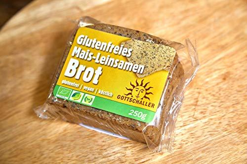 Glutenfreies Mais-Leinsamen Biobrot